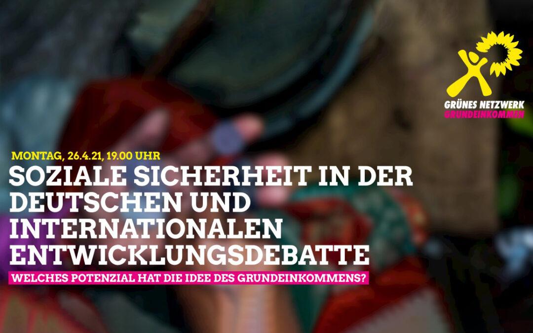 Soziale Sicherheit in der deutschen und internationalen Entwicklungsdebatte